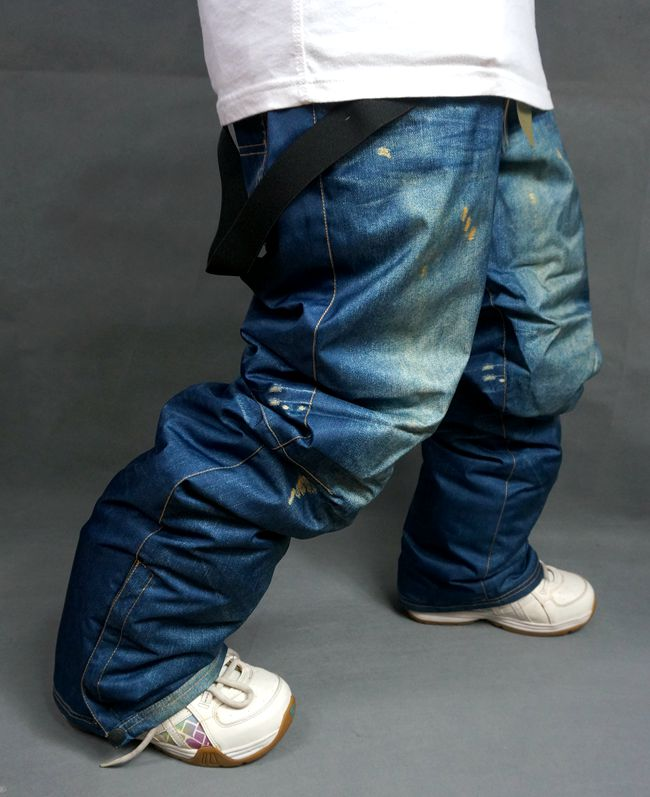 2016 foreign trade company goods export version of cowboy ski pants and cotton ski pants single board ski pants waterproof wind(China (Mainland))