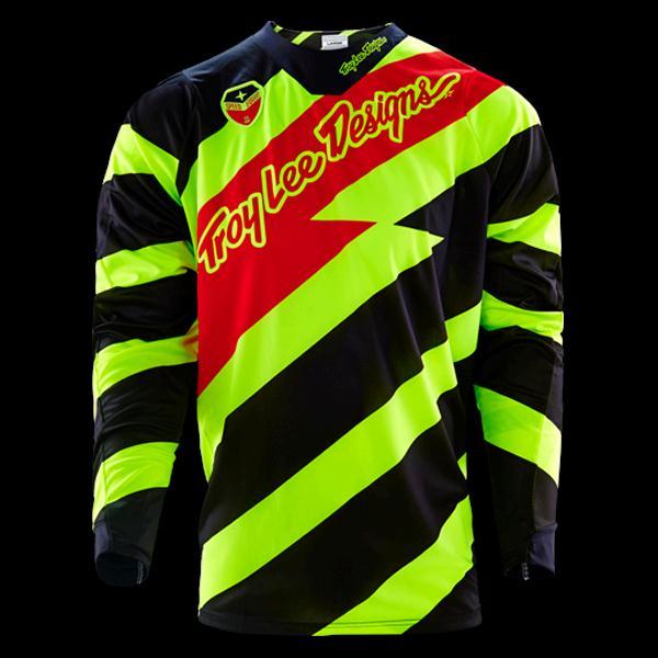 Hot Sale!Free shipping 2016 New GP SE Air Jersey Caution black/Yellow Tld MTB bike Men's Motocross Outdoor sports T-Shirts(China (Mainland))