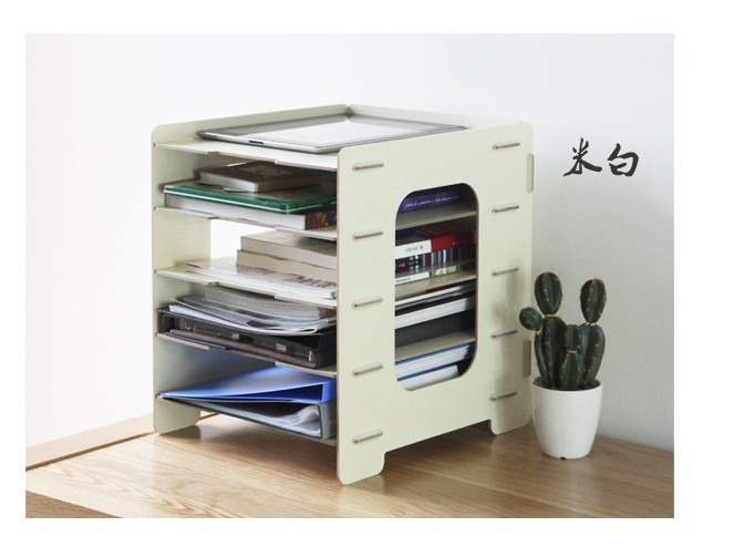 27*30*34cm Office stationery storage box wool data frame file holder diy magazine rack 1002b(China (Mainland))