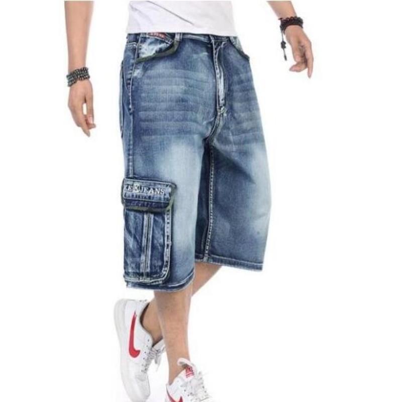 Popular Mens Denim Hip Hop Cargo Shorts-Buy Cheap Mens Denim Hip ...