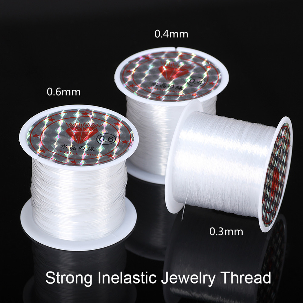 2015 new Cord Wire,Crystal 0.4mm fish fishing line no stretch silk  sewing thread wire nylon cord jewelry making nylon thread<br><br>Aliexpress