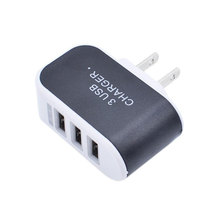 Newest 5V 3.1 A Triple 3 ports USB charger Wall Home Travel AC Charger Adapter For S6 Micro USB EU US Plug(China (Mainland))