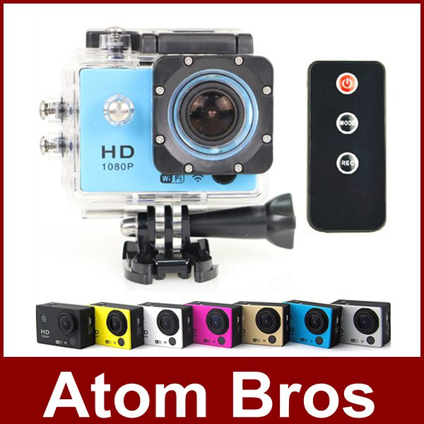 New Action Camera Sports DV Comcorder Full HD 1080P Outdoor Waterproof Diving Recorder With Wifi Remote Control GoPro Style(China (Mainland))