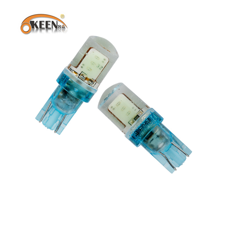 Good quality silicone 12V led t10 COB 6smd white/red/blue/green/amber/ice blue w5w bulbs led reverse light for lada car styling(China (Mainland))