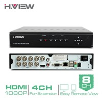 H.View 8 Channel Digital Video Recorder Full D1 CCTV DVR H.264 HDMI Video Output Support iPhone Android Phone NO HDD