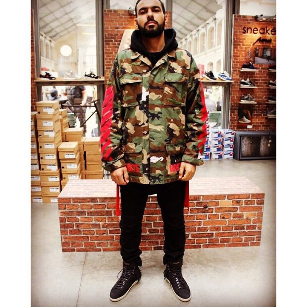 2016 Hip Hop Street Brand Pyrex C/O Virgil Abloh OFF WHITE Jacket Shirts Military Camouflage Camo Stripes Men Coats Kanye AMD395(China (Mainland))