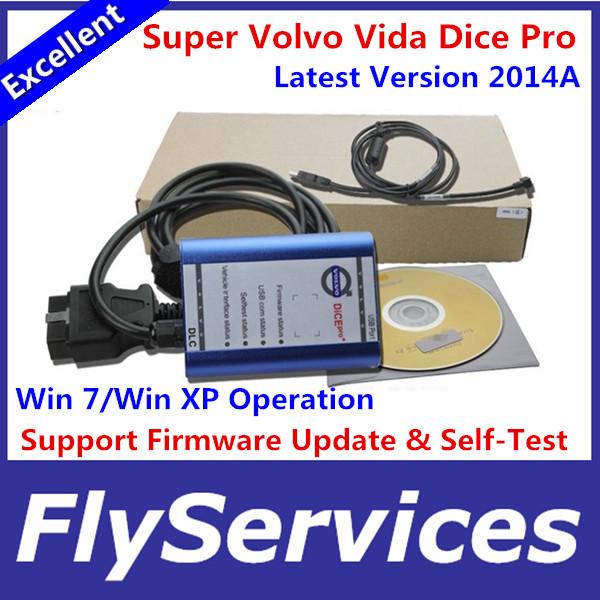 Newest Version 2014A Super Volvo Dice Pro Excellent Performance Volvo Vida Dice Pro Diagnostic Tool Multi-Language(China (Mainland))