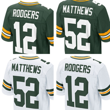Men's #52 Clay Matthews #12 Aaron Rodgers Jerseys #87 Jordy Nelson #27 Eddie Lacy Adult Elite jerseyEmbroidery Free Shipping(China (Mainland))