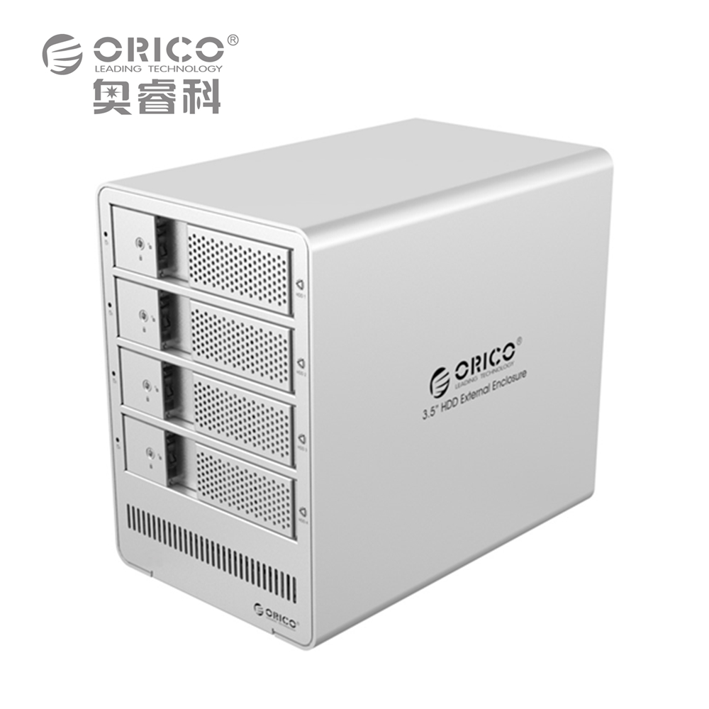 ORICO 9548RU3 4-bay 3.5'' USB3.0 ESATA Raid HDD Enclosure HDD Docking Station Case for Laptop PC (Silver)(China (Mainland))