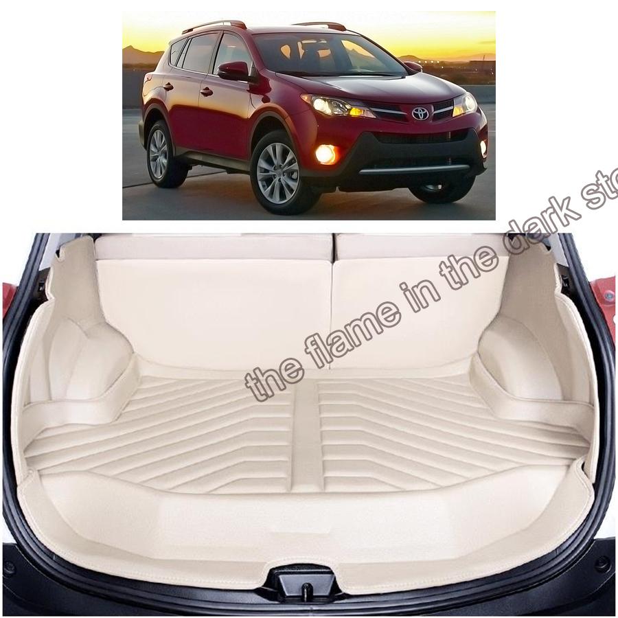 free shipping 5d full cover fiber leather waterproof car trunk mat for toyota rav4 XA40 2013 2014 2015 2016<br><br>Aliexpress