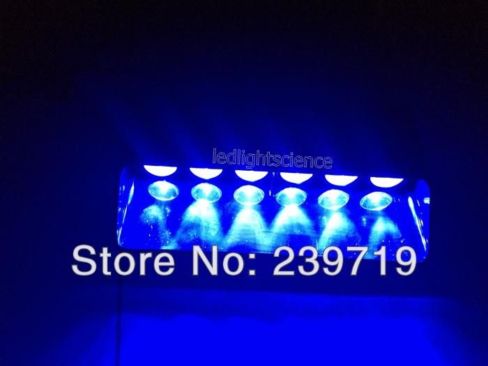 Led Warning lights Emergency Windshield Super Bright Strobe Dash 6 LEDs Flash Light 6W BLUE(China (Mainland))