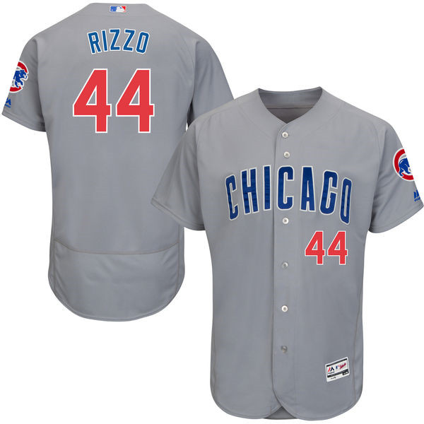 Anthony Rizzo Chicago Cubs Flexbase Authentic Collection Player Jersey - Gray Throwback Baseball Jerseys(China (Mainland))