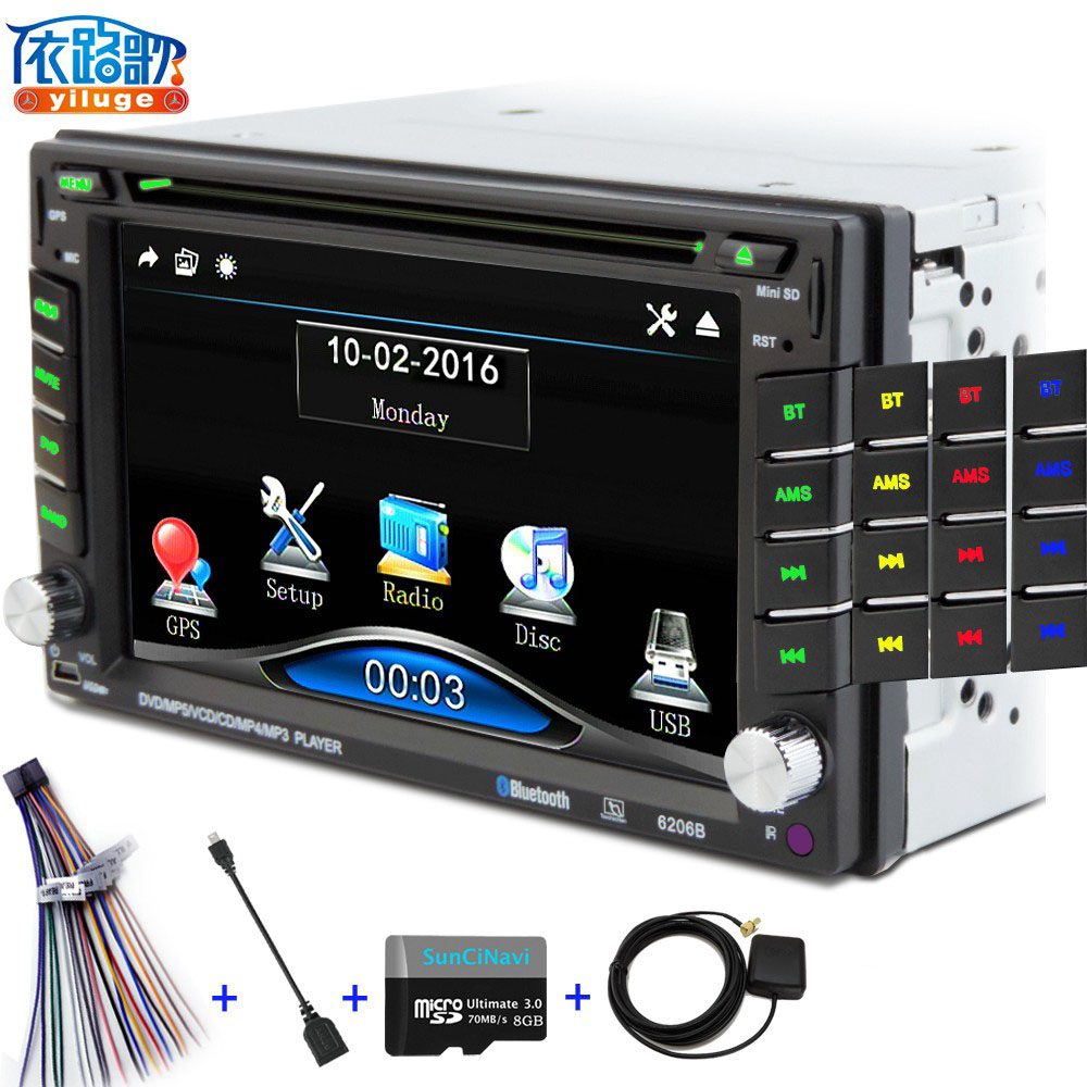 2 DIN Car DVD / GPS/ CD / MP3 / mp5 / usb / sd / player Bluetooth Handsfree Rearview after Touch screen hd system Free shipping(China (Mainland))