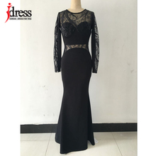 Buy IDress 2016 Fall Winter Robe Longue Femme Womens Long Dresses Maxi Sleeves Lace Sequin Bodycon Long Party Dress for $20.48 in AliExpress store