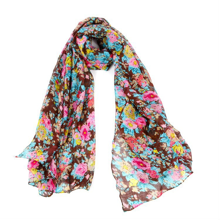 2015 desigual new bufandas brand big long size women winter scarf flower print pashmina best quality fashion women scarf(China (Mainland))