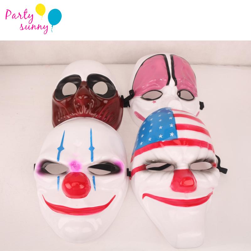 2016 Halloween Game PAYDAY2 Man Halloween Masks Party Masks Party Masquerade Mask High Quality Party Nightclub Man Masks m190(China (Mainland))