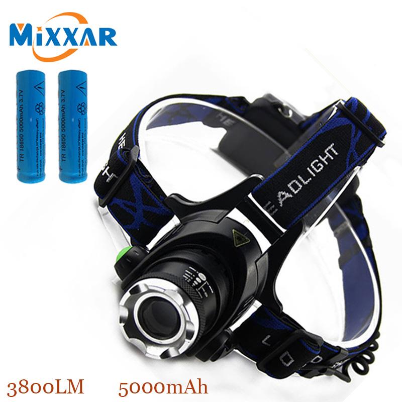 ZK40 LED Head Light 3800Lumens CREE XM-LT6 Zoomable LED Headlamp Head Lamp Light Bicycle Bike Lamp Spotlight For Hunting(China (Mainland))