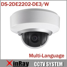 Multi-language Wifi Wireless Camera IP 1080P Auto PTZ Dome Camera DS-2DE2202-DE3/W 2X Zoom Built In Mic and Audio 3D Positioning(China (Mainland))