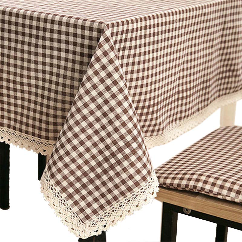 Home Plaid Linen Table Cloth Tablecl Table Cover High Quality American Style High-grade Tropical table cover tablecloth cotton(China (Mainland))