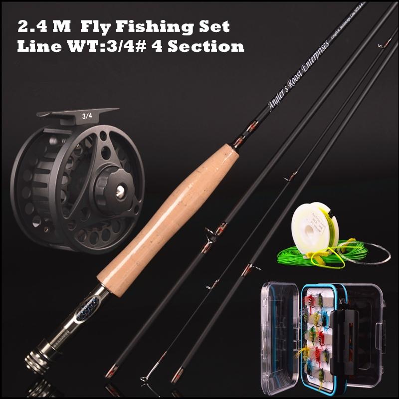 30t carbon fly <font><b>rod</b></font> 2.4 m 2.58 meters line wt 3/4# 4/5# 4 section fly <font><b>fishing</b></font> <font><b>rod</b></font> <font><b>fishing</b></font> tackle combo set fly <font><b>fishing</b></font>
