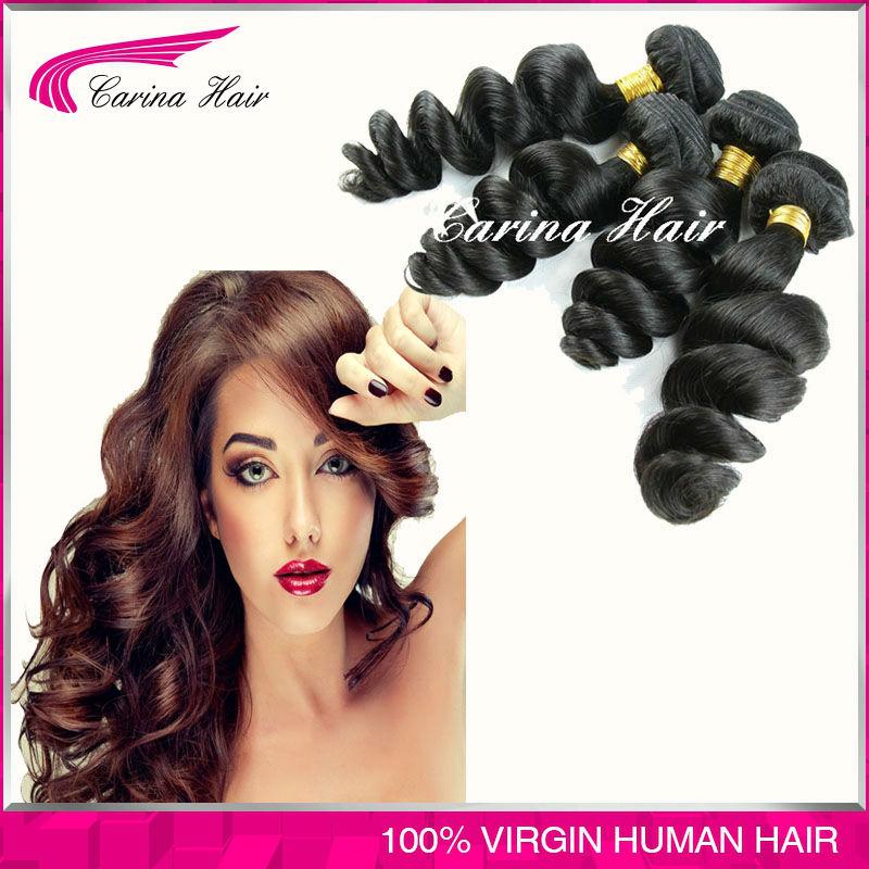 Здесь можно купить  Brazilian Virgin Hair 4 Bundles Brazilian Loose Wave Soft Hair Extensions Healthy Human Hair Weave Carina Hair  Волосы и аксессуары