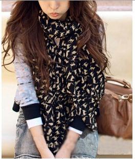 (Минимальный заказ $10) 2016 НОВЫЙ ГОРЯЧИЙ Мода модные Уютные женщины дамы Благородный женщин шарф платок шейный платок заглушить конструкций Сексуальная кошка