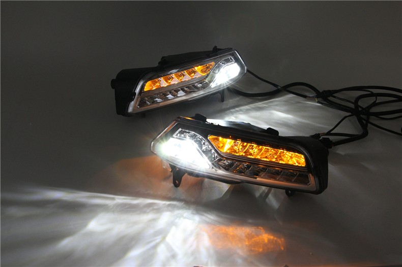 A&T car styling For VW POLO LED DRL For POLO led fog lamps daytime running light High brightness guide LED DRL With steering