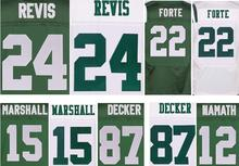 yingyuanFang Best quality jersey,Men's 15 Brandon Marshall 22 Matt Forte 24 Darrelle Revis 87 Eric Decker elite jerseys,White an(China (Mainland))