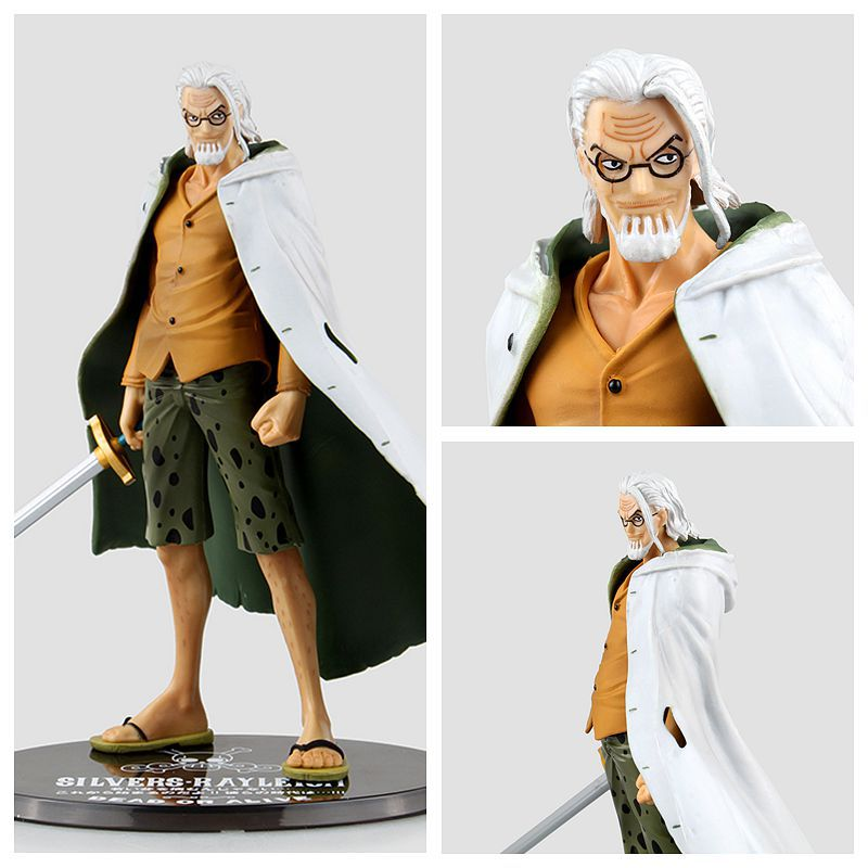 New Arrival 1pcs 17CM pvc anime figure Silvers Rayleigh one piece action figure collectible model toys brinquedos(China (Mainland))