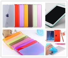 Scolour New Soft Gel TPU Skin Silicone Back Case Cover for apple iPad mini 1 mini 2 mini3 Retina(China (Mainland))