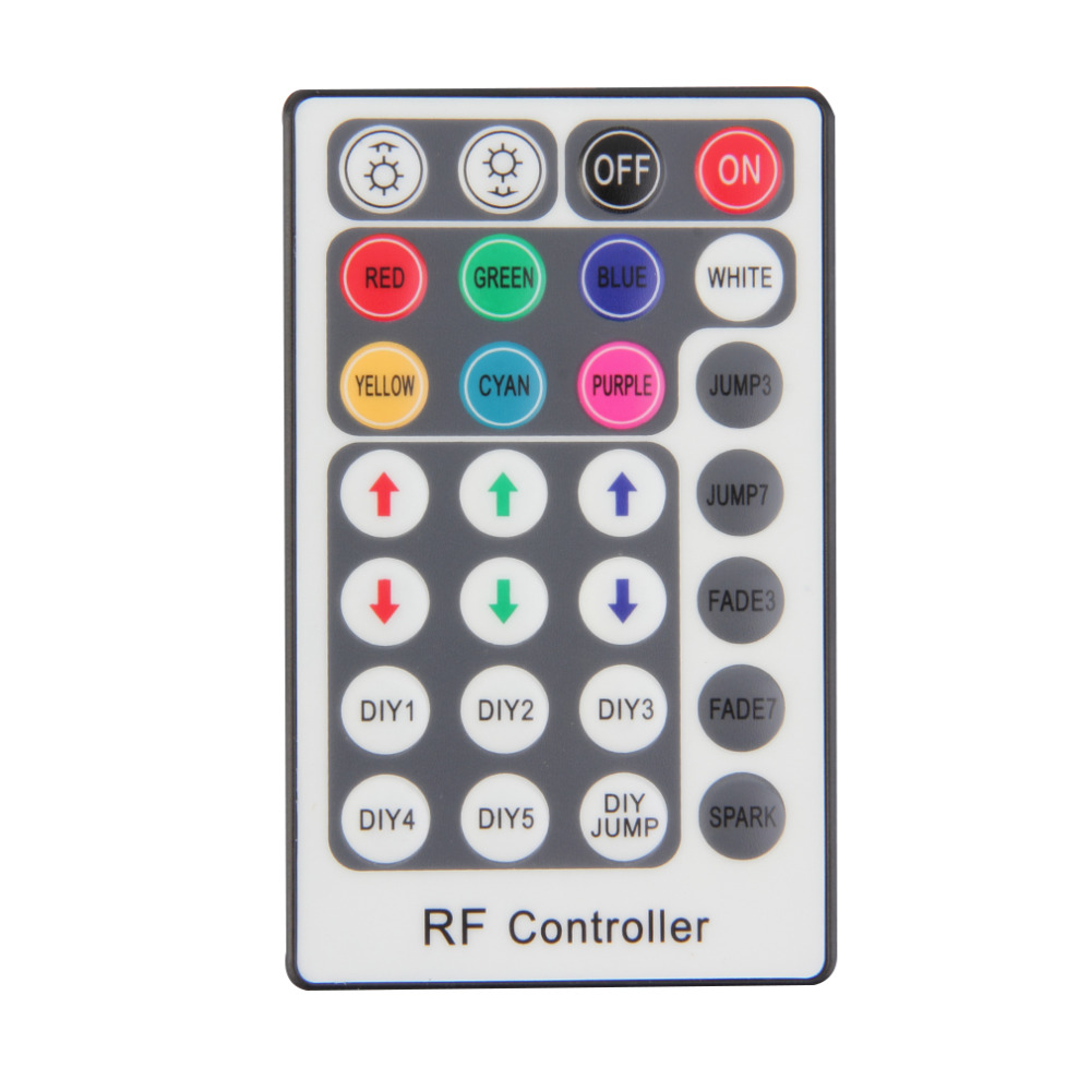 Lighting Accessories RGB Controler RF Wireless Remote 28 Keys 12-24V 3 Channels LED Controller for RGB LED Strips Light<br><br>Aliexpress