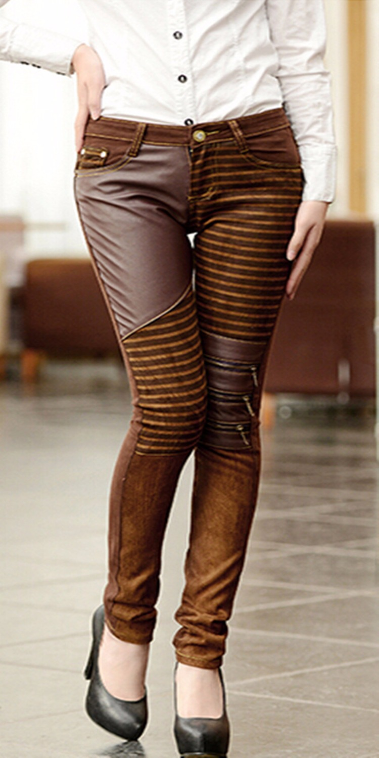 Plus Size Brown Jeans