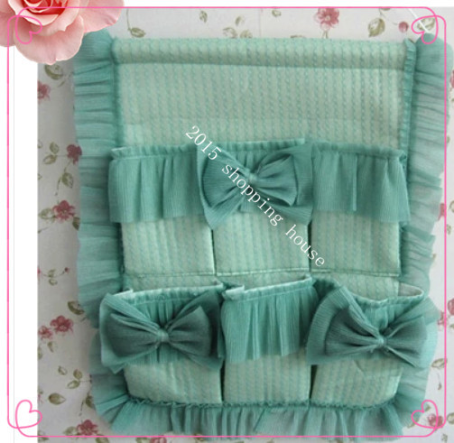 2pcs Cloth lace bag of goods to be used to receive the goods lace bag for home storage &decor 47cm*40cm(China (Mainland))
