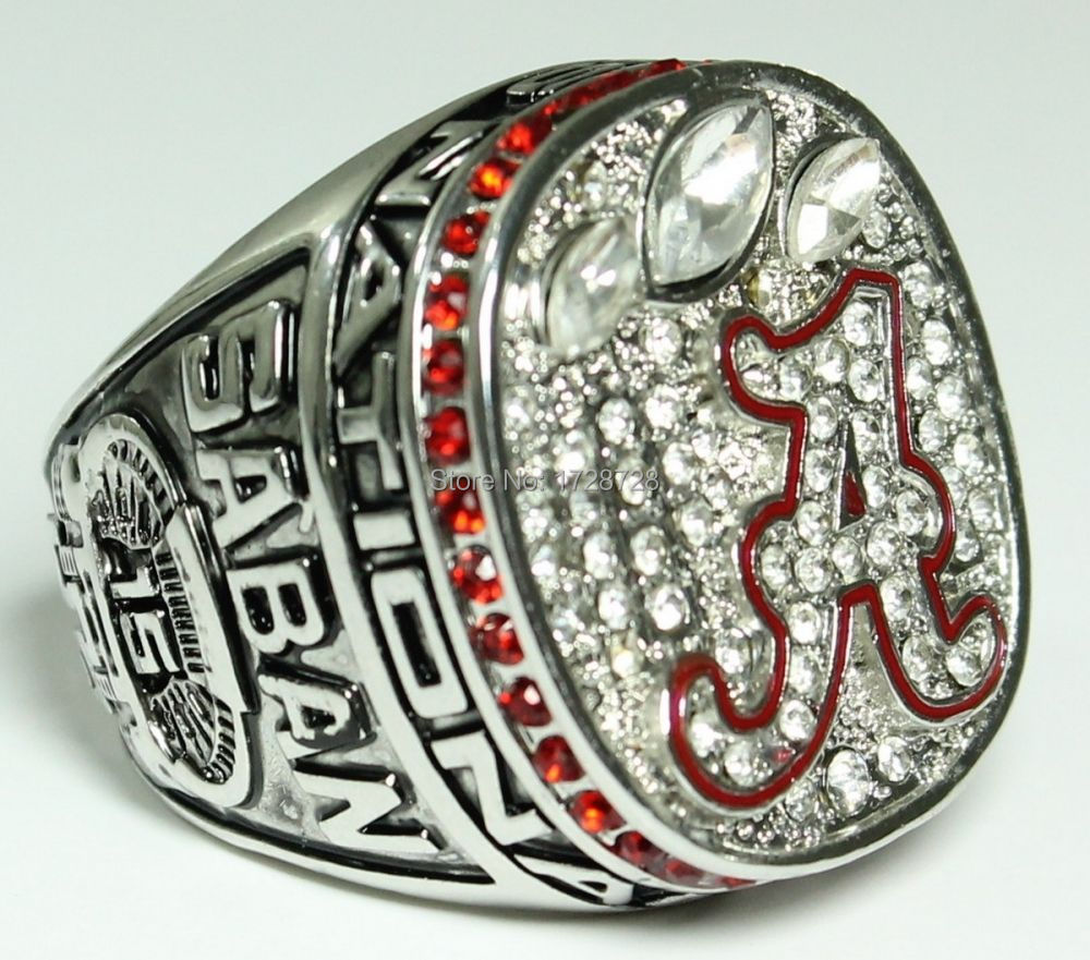 2012 Year Alabama Crimson Tide NCAA Football Championship ring SIZE 11 high quality(China (Mainland))