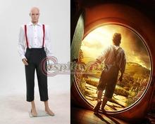 Custom Made The Hobbit Lord of the Rings Bilbo Baggins Costume Suit Uniform Adult Men