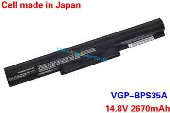 2670 мАч Подлинная VGP-BPS35A Аккумулятор Для Ноутбука SONY Vaio Fit 14E 15E Серии BPS35A SVF1521A2E SVF15217SC SVF14215SC SVF15218SC