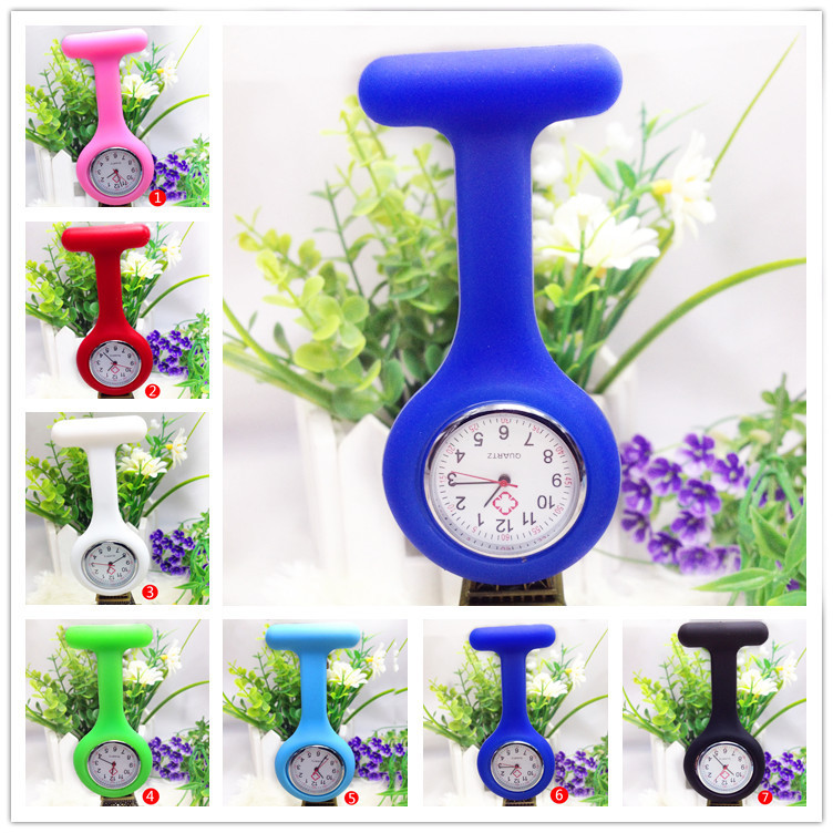 hot sale New Women High Quality watch Silicone strap Nurses Brooch Watches fashion style easily carried wristWatches jl-105(China (Mainland))