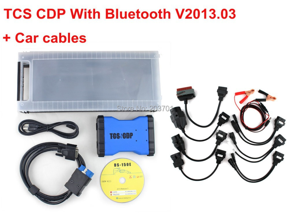 2014.2 as gift New design New TCS CDP PRO CAR+TRUCK TCS CDP+ Pro Plus with Bluetooth + 8 cable for car free shipping(China (Mainland))