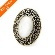 2014 New Fashion Hot Selling Wholesale Vintage Promotion Retro Round Ring Fashion Jewelry Bronze Ring Free Shipping(Bronze) R465