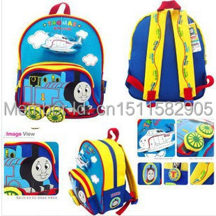 Гаджет  2014Hot Kids backpack,mochila infantil,children school bags for Boys,Kindergarten Canvas Rucksack Thomas train Cartoon backpack None Камера и Сумки