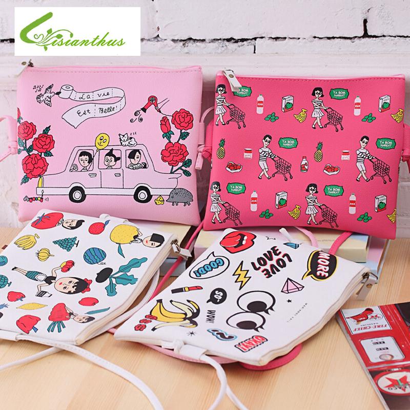 HOT Sale 4 Colors Cartoon Make up Organizer Bag Women Casual Travel Bag Multi Functional Cosmetic Bag Storage Bag in Bag Handbag(China (Mainland))