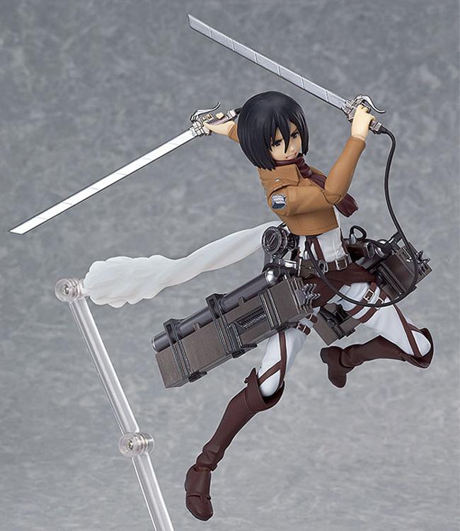 "Anime Attack on Titan Figma 203 Mikasa Ackerman 6"" PVC Action Figure Collectible Model Toy(China (Mainland))"