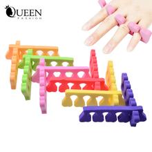 Soft Foam Nail Art Toe Separators,20pcs (10pairs) Orthedontic Straightening Finger Feet Care Separator Nail Tools(China (Mainland))