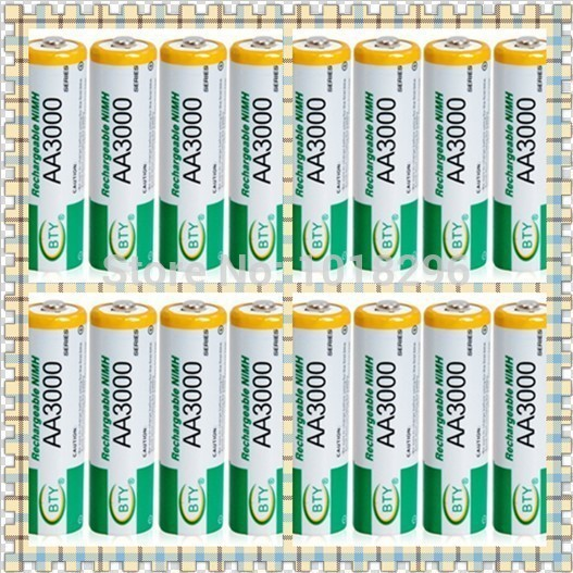 Гаджет  High quality 16 X BTY Ni-MH AA 3000 1.2V Rechargeable 2A Battery None Бытовая электроника