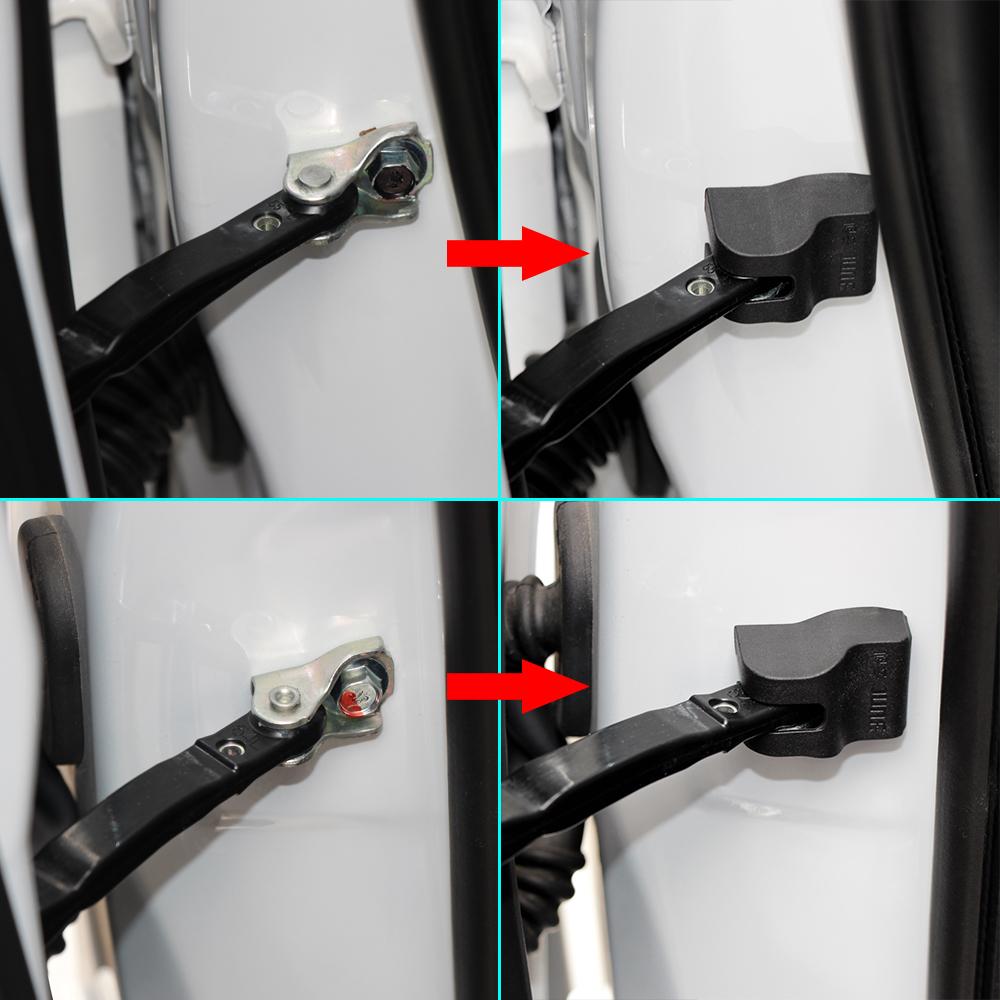 Door lock buckle Cover Door Check Pad Guard Protector decoration for Mitsubishi Pajero ASX Outlander 2012 2013 2014 Car styling(China (Mainland))