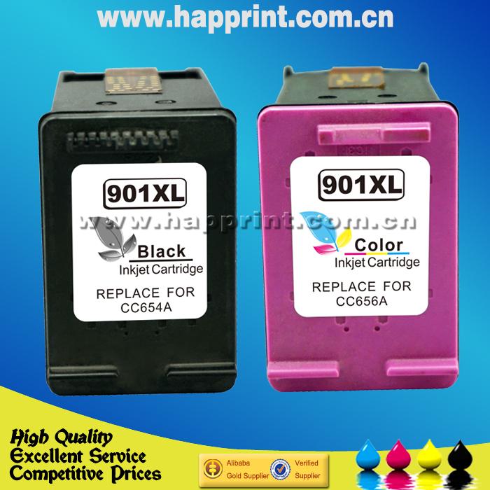 (1Set)Cartucho de tinta Ink Cartridge for HP 901xl CC653AN CC656AN hp901 hp 901 for HP Officejet 4500,J4524,J4535,J4540,J4550(China (Mainland))