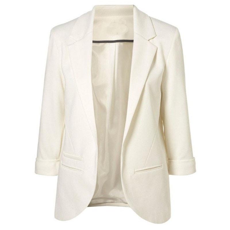 Женская одежда модест формальный весна новое поступление женщин мода нотч бойфренд понте проката блейзер