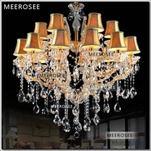 Maria Theresa Clear with Gold Crystal Chandeliers of Living Hanging Lamp Large Crstal Light Fixture Dining With 18 Arms MD7001(China (Mainland))