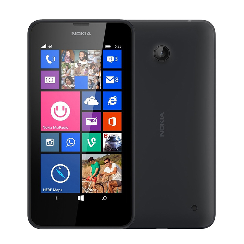 "2016 Original Nokia Lumia 635 Windows Phone 4.5"" Quad Core 1.2GHz 8G ROM 5.0MP WIFI GPS Unlocked 4G LTE Smartphone Refurbished(China (Mainland))"