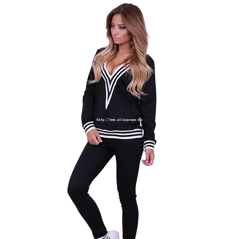 New 2015 Autumn Winter Women Casual Sport Suit Set Fashion